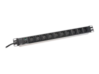 10-Outlet Strip Spannungsschutz 10 AC-Ausgänge 250 2 m Schwarz