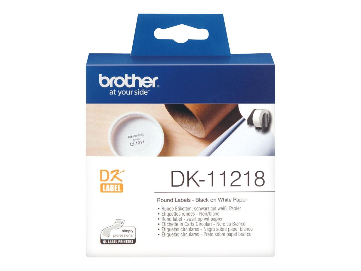 Brother DK-11218 - Schwarz auf Weiß - Rolle (2,4 cm)