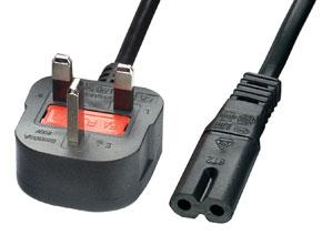 Lindy UK Netzkabel 2m UK-Stecker and Fig.8 Anschluss - Zubehör PC