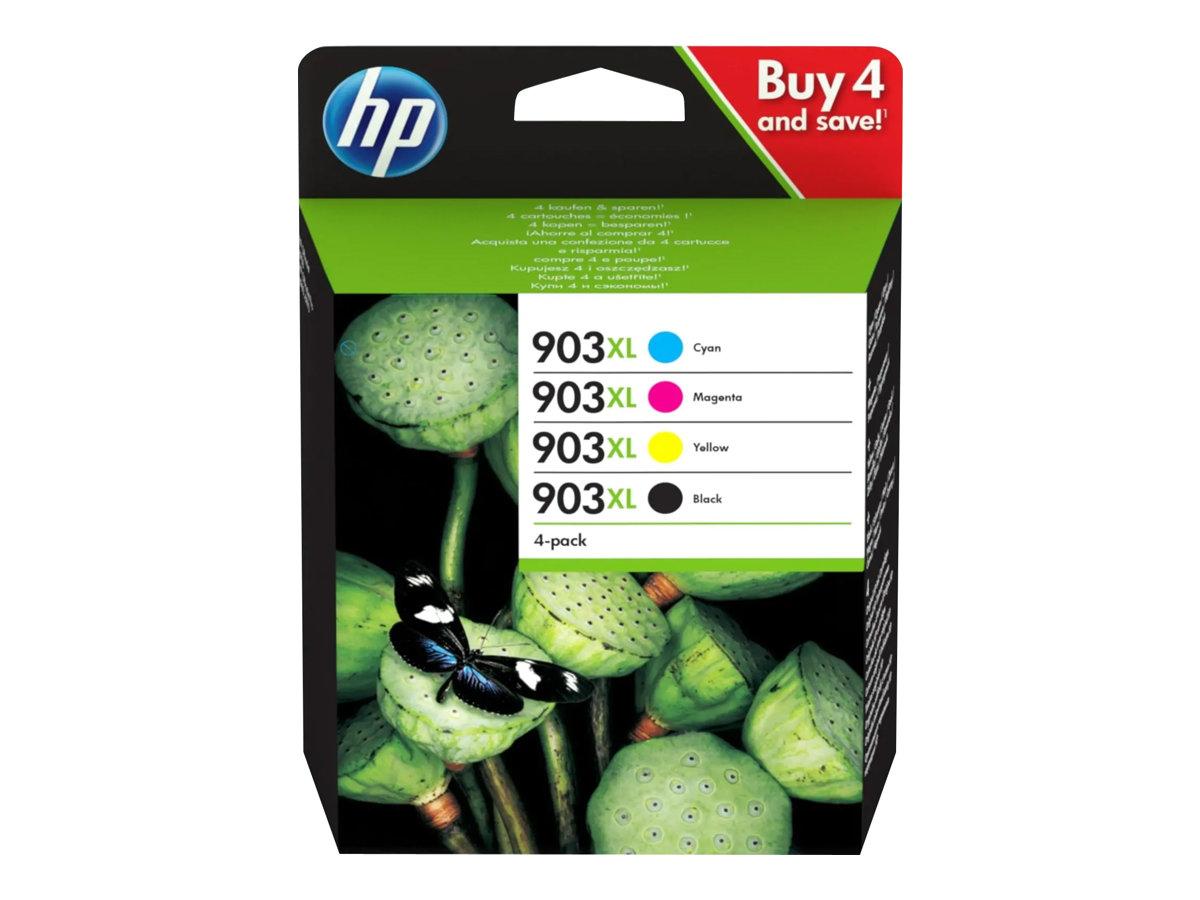 HP 903XL - 4er-Pack - Hohe Ergiebigkeit - Schwarz, Gelb, Cyan, Magenta