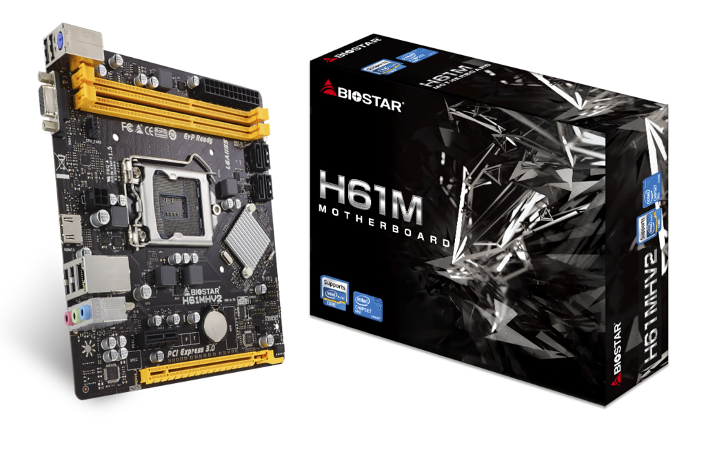 Biostar H61MHV2 - Motherboard - micro ATX - LGA1155-Sockel - H61 - Gigabit LAN - Onboard-Grafik (CPU erforderlich)