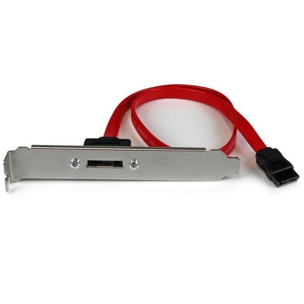 StarTech.com 45cm 1 Port SATA auf eSATA Slotblech Adapter - Buchse/Stecker