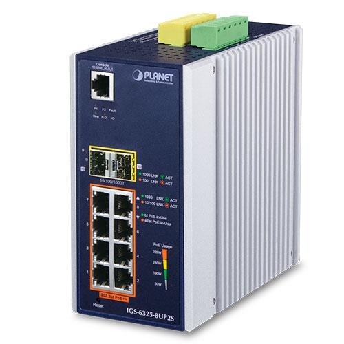 Vorschau: Planet IGS-6325-8UP2S - Managed - Gigabit Ethernet (10/100/1000) - Power over Ethernet (PoE)