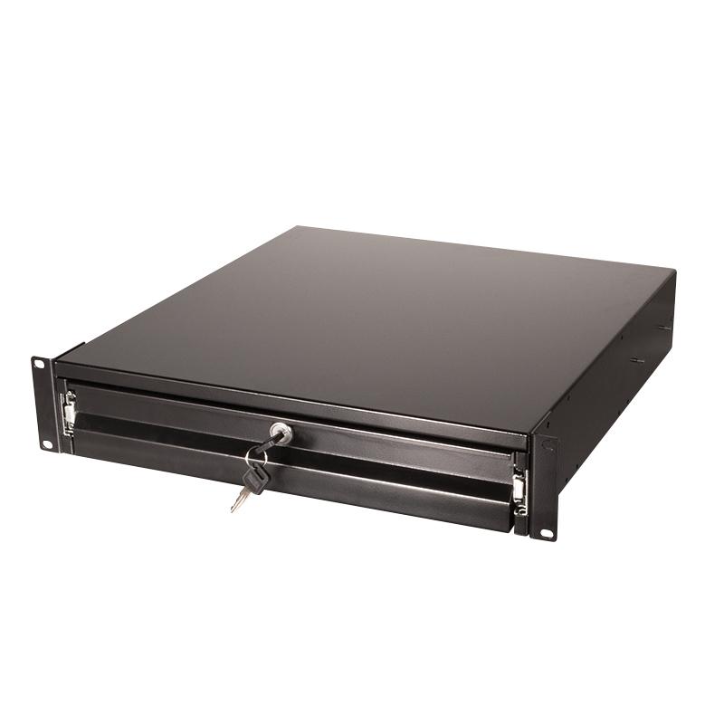 "LogiLink Rack Storage Drawer - Schwarz, RAL 9004 - 2U - 48.3 cm (19"")"