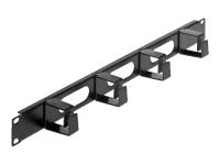 Cable Management Panel - Kabelführungsplatte für Schaltschrank - Schwarz, RAL 9005