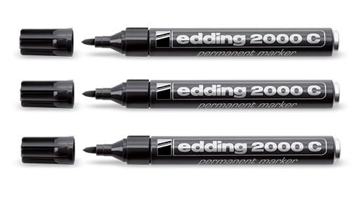 EDDING 2000c Black Bullet tip Black Bold 1.5 mm 3 mm