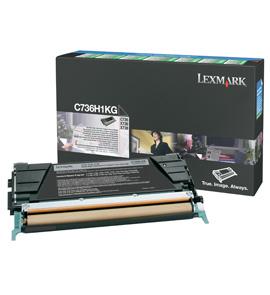 Lexmark C736H1KG Laser cartridge 12000Seiten Schwarz Lasertoner / Patrone