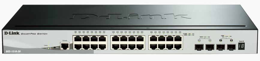 D-Link DGS-1510 Managed network switch L3 Gigabit Ethernet (10/100/1000) Schwarz