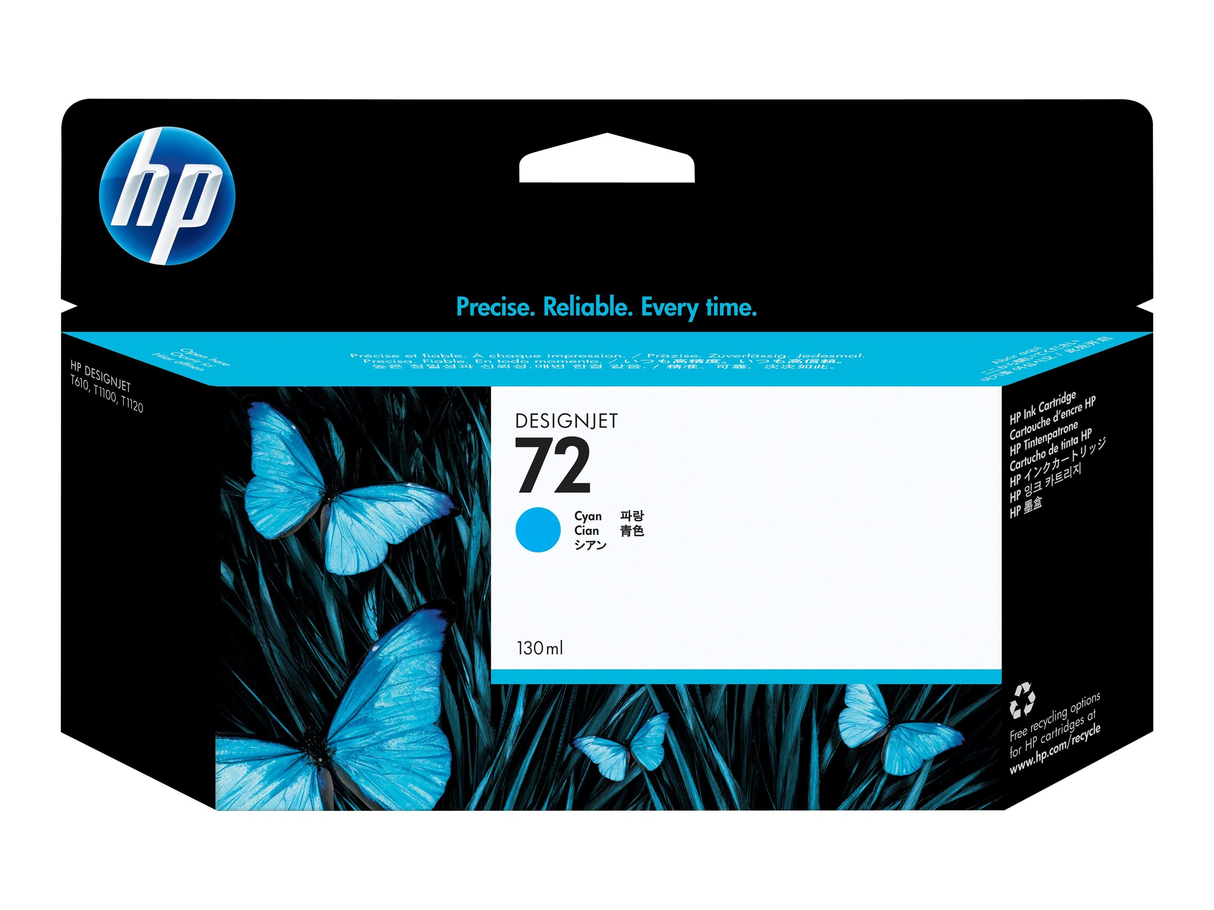 HP 72 - 130 ml - Cyan - Original - DesignJet