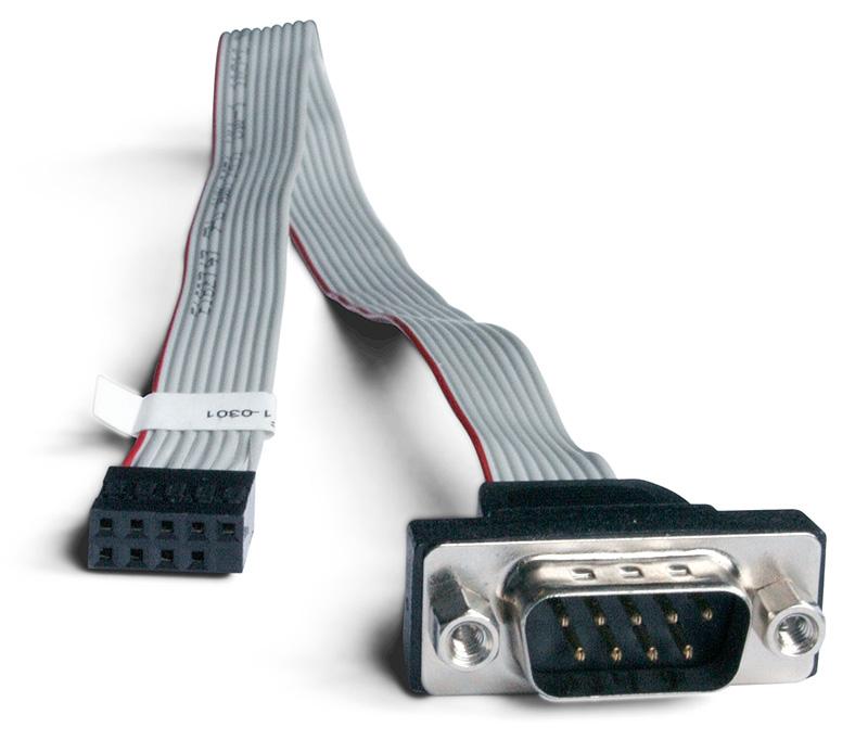 Shuttle H-RS232 0.32m 9-p Sub-D M 10-p RS-232 F Schwarz - Grau Serien-Kabel