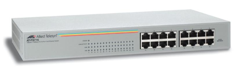 Allied Telesis AT-FS716 ungemanaged Fast Ethernet (10/100) Grau Netzwerk-Switch