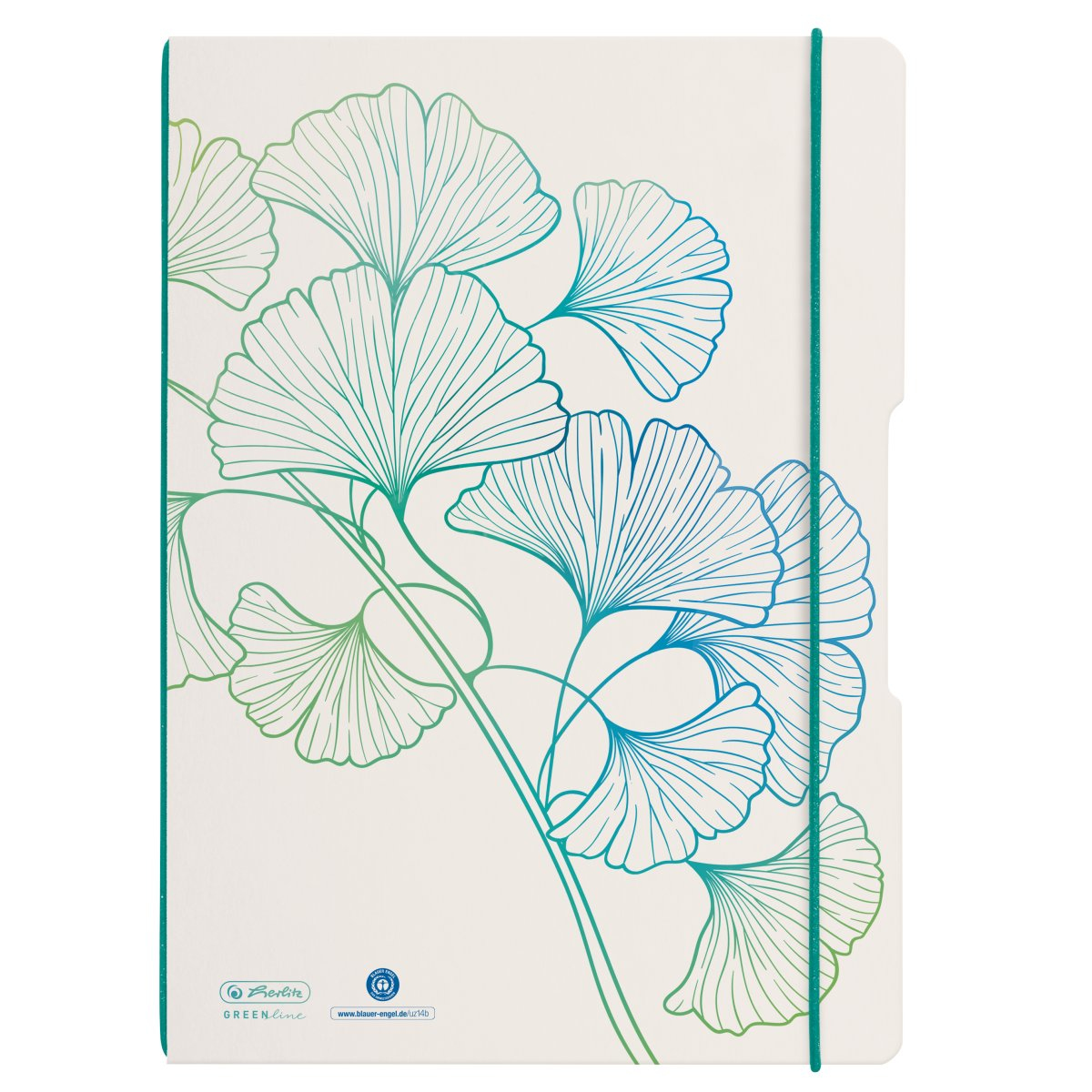 Vorschau: Herlitz my.book flex - Muster - Weiß - A4 - 80 Blätter - Erwachsener