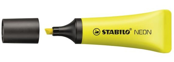 STABILO 72/24 1 pc(s) Yellow Chisel tip Black,Yellow 2 mm 5 mm