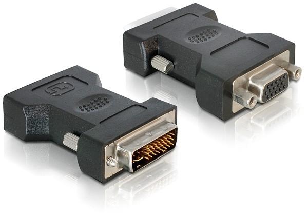 Adapter DELOCK 24+5pin DVI-I-St. >15pin VGA-Bu. [bk]