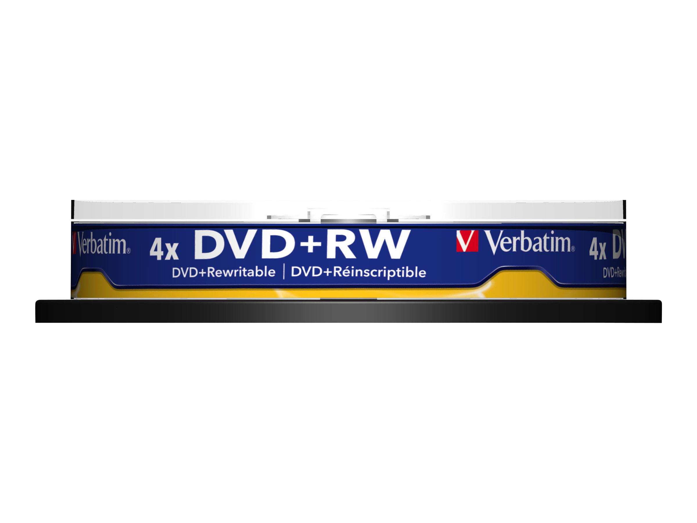 Verbatim 10 x DVD+RW - 4.7 GB (120 Min.) 4x