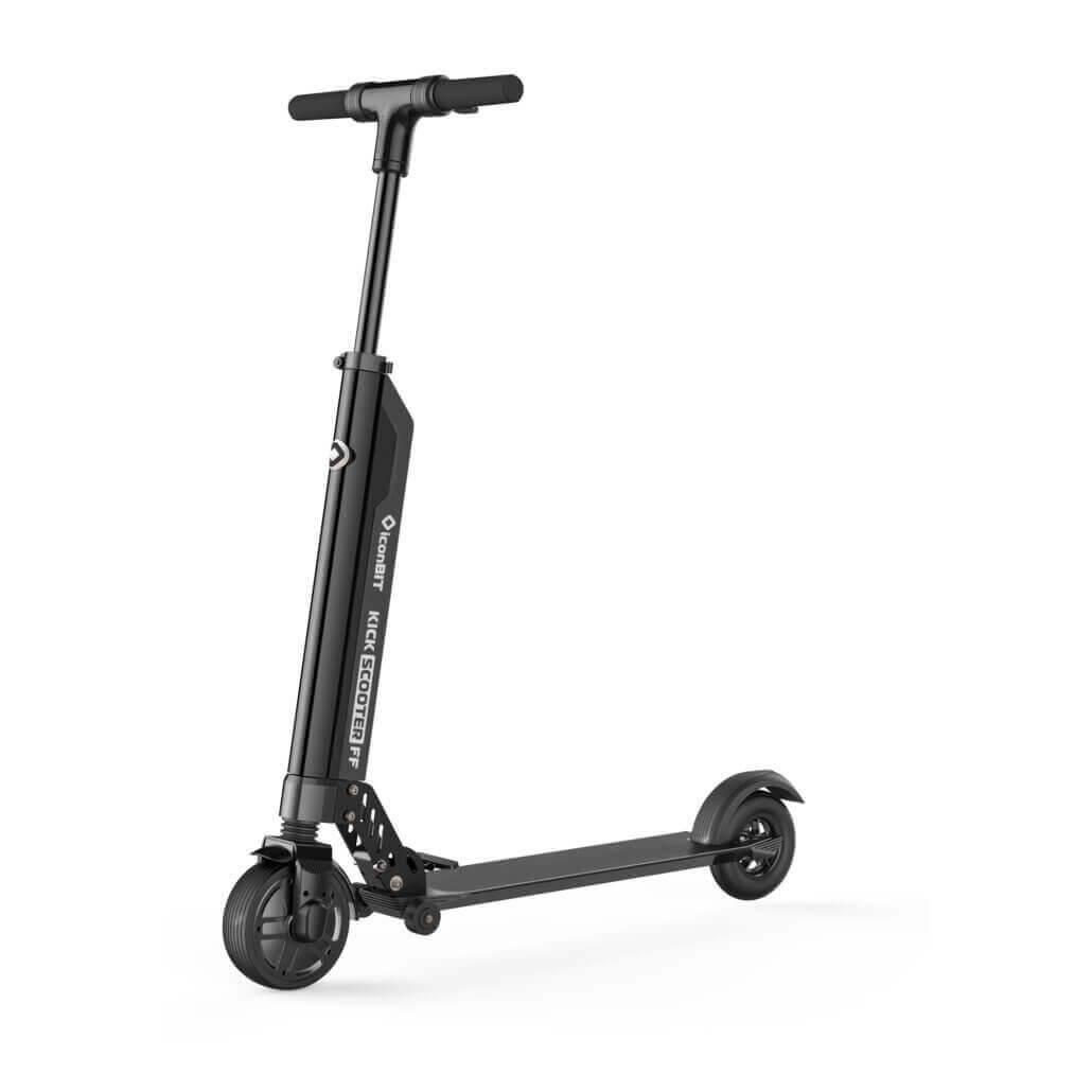 iconBIT KICK SCOOTER FF - Klassischer Roller - 25 km/h - Schwarz - 2 Rad/Räder - Aluminium - Feste Räder
