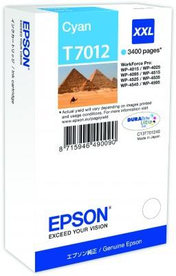 Epson WP4000/4500-Serie Tintenpatrone XXL Cyan 3.4k