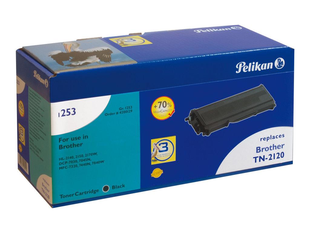 Pelikan 1253HC - Schwarz - Tonerpatrone (Alternative zu: Brother TN2120)