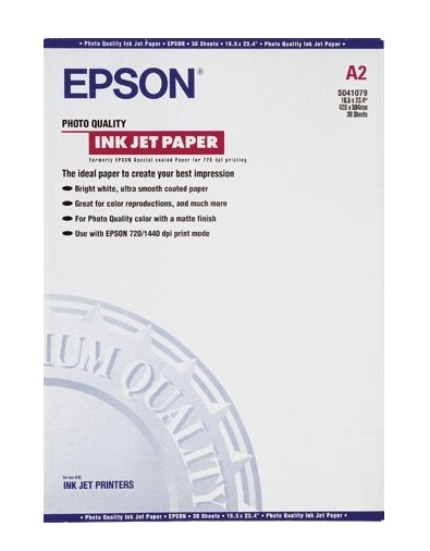 Epson Photo Quality Ink Jet Paper - Fotopapier - A2 (420 x 594 mm)