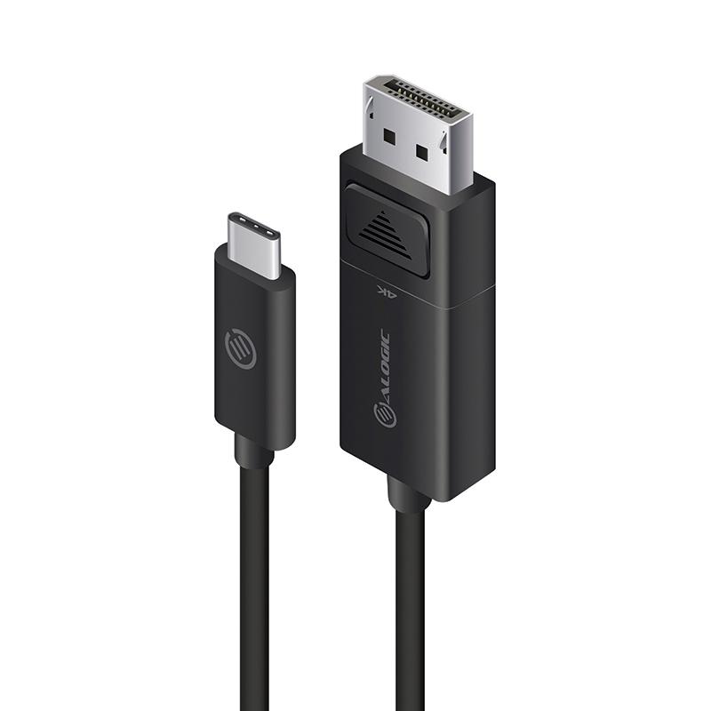 Vorschau: Alogic ELUCDP-02RBLK - 2 m - USB C - DisplayPort - Männlich - Männlich - Gerade