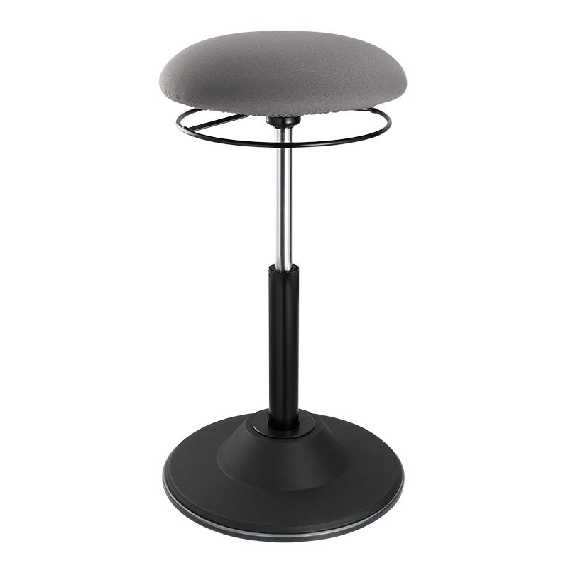 Vorschau: LogiLink Höhenverstellbarer Bürohocker - Gepolsterter Sitz - Grau - Stoff - Schwarz - 1 Stück(e) - 113 kg
