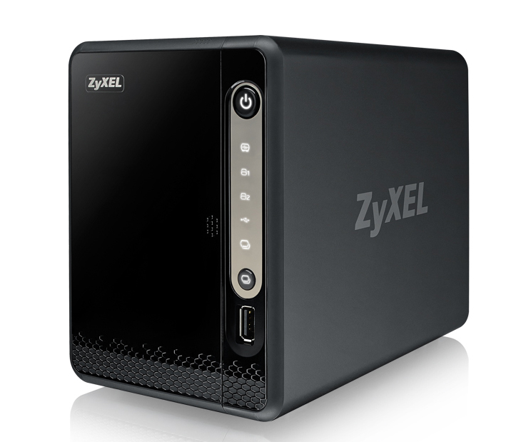 ZyXEL NAS326 - NAS - Mini Tower - Marvell Armada 380 - Schwarz