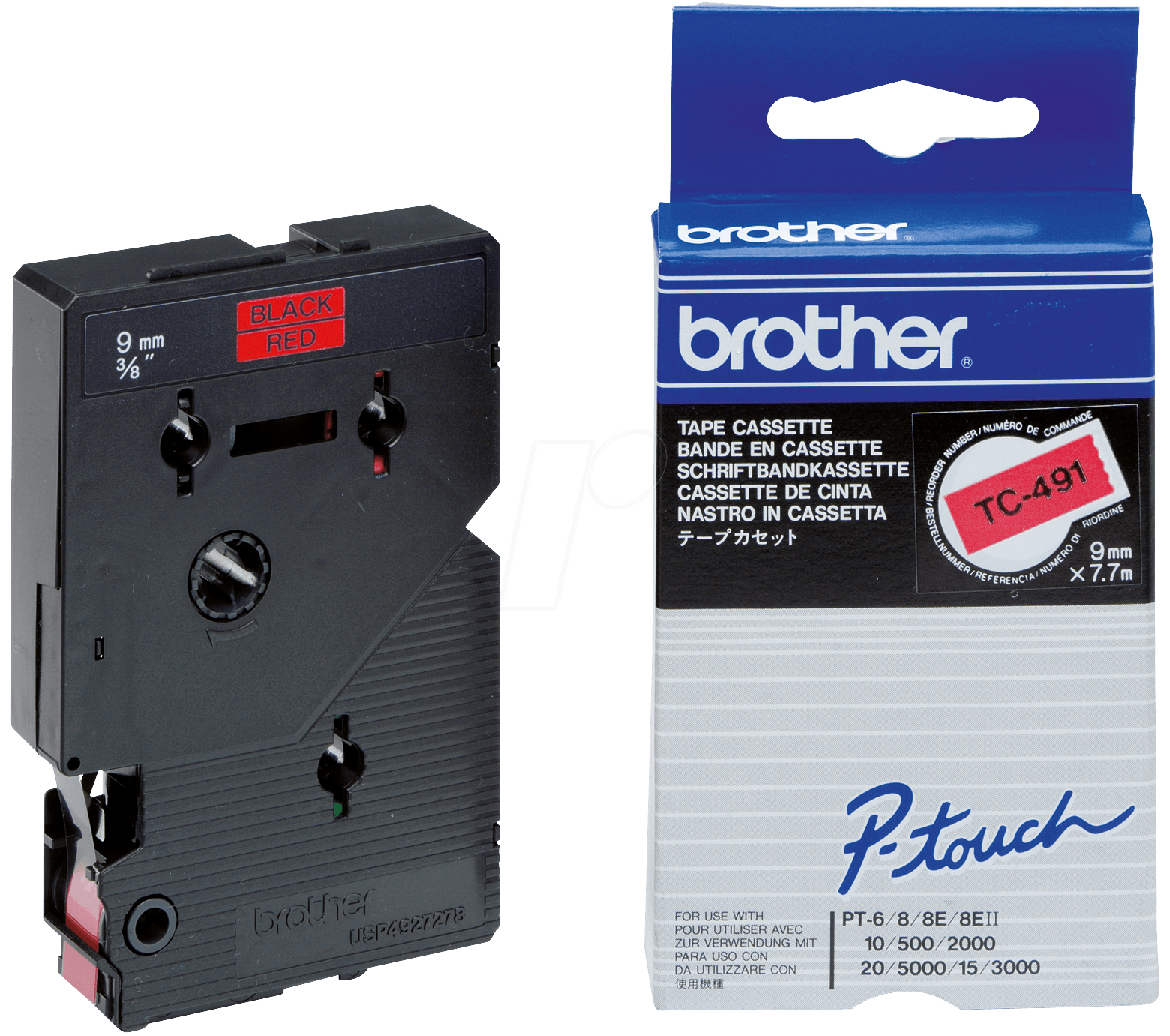 Brother Schriftband 9mm Etiketten / Beschriftungsbänder
