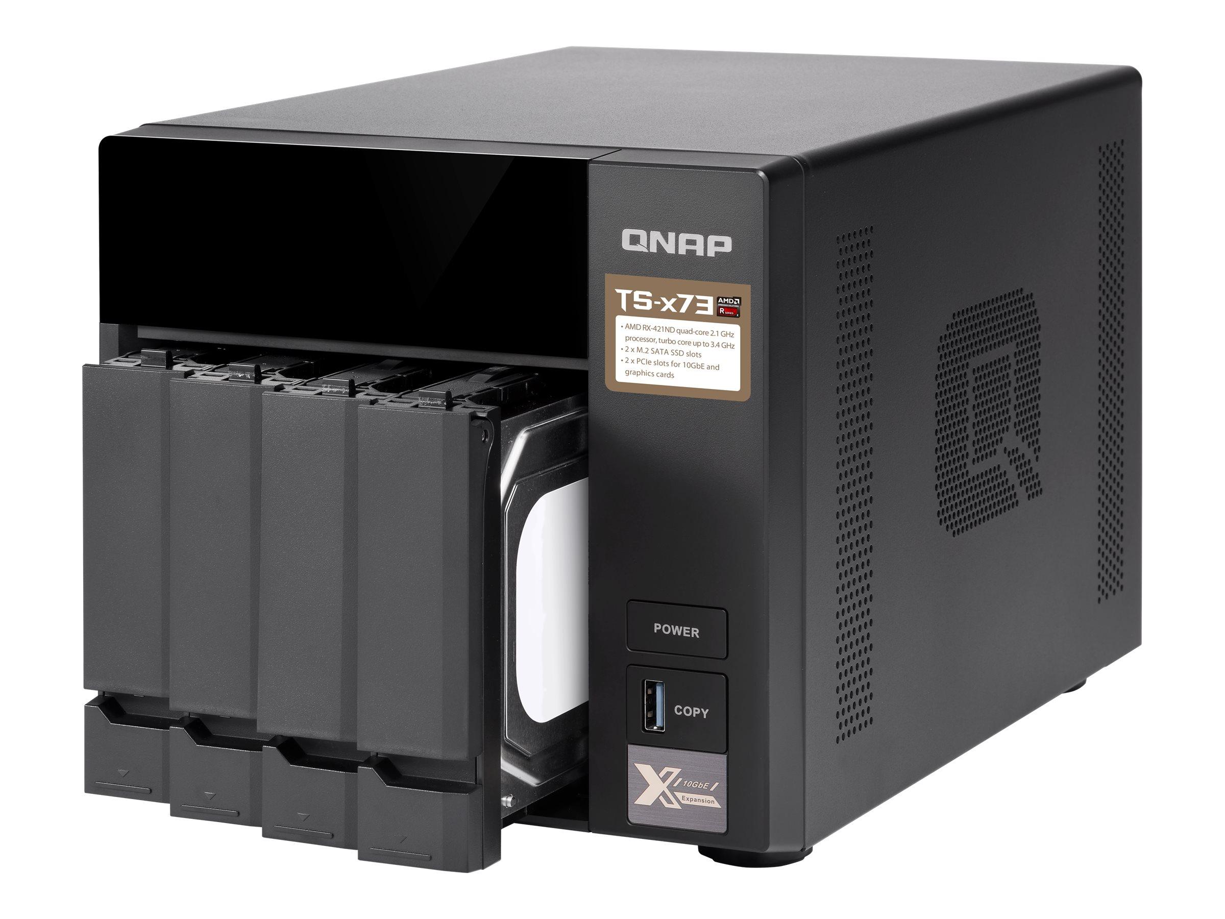 QNAP TS-473-4G - NAS-Server - 4 Schächte - SATA 6Gb/s