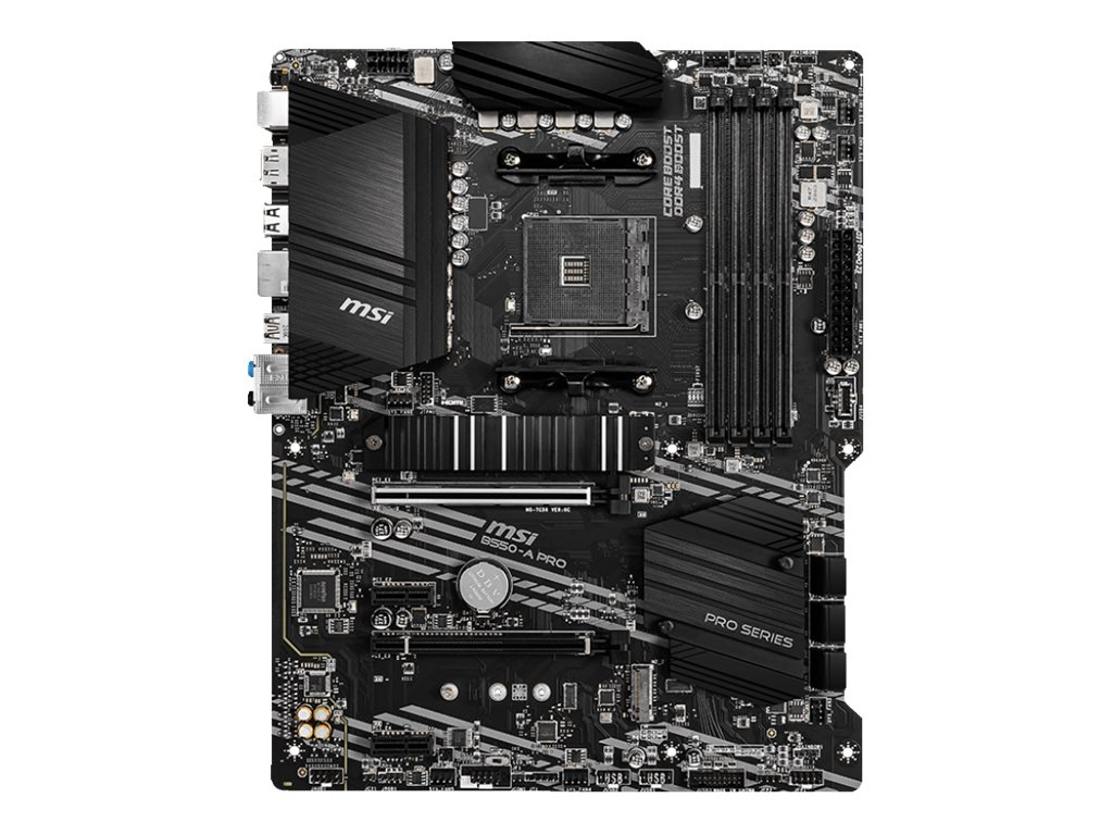 MSI B550-A PRO - Motherboard - ATX - Socket AM4 - AMD B550 - USB-C Gen2, USB-C Gen1, USB 3.2 Gen 1, USB 3.2 Gen 2 - Gigabit LAN - Onboard-Grafik (CPU erforderlich)
