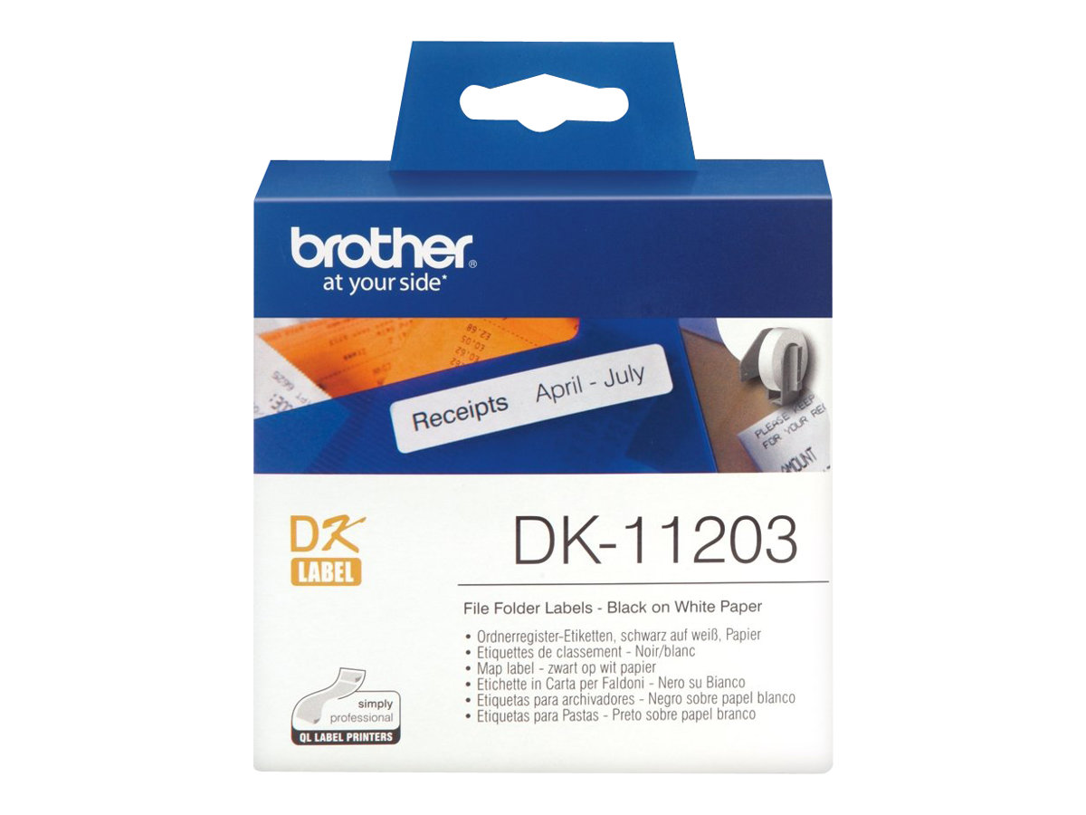 Brother DK-11203 - 17 x 87 mm 300 Etikett(en) (1 Rolle(n) x 300) Aktenetiketten