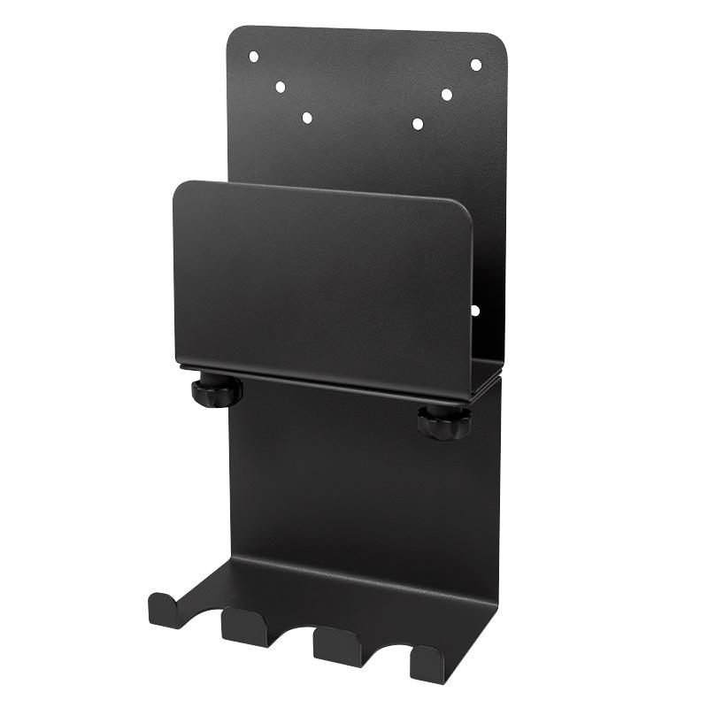 LogiLink Mini-PC-Halterung mit Kabelmanagement schwarz passend für Mini-PCs bis 3 kg
