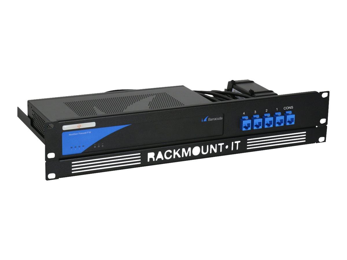"""Rackmount.IT RM-BC-T1 - Netzwerk-Einrichtung - Rack montierbar - Jet Black, RAL 9005 - 1.3U - 48.3 cm (19"""")"""