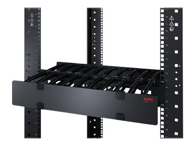 """APC Horizontal Cable Manager Single-Sided with Cover - Rack - Kabelführungssatz - Schwarz - 1U - 48.3 cm (19"""")"""