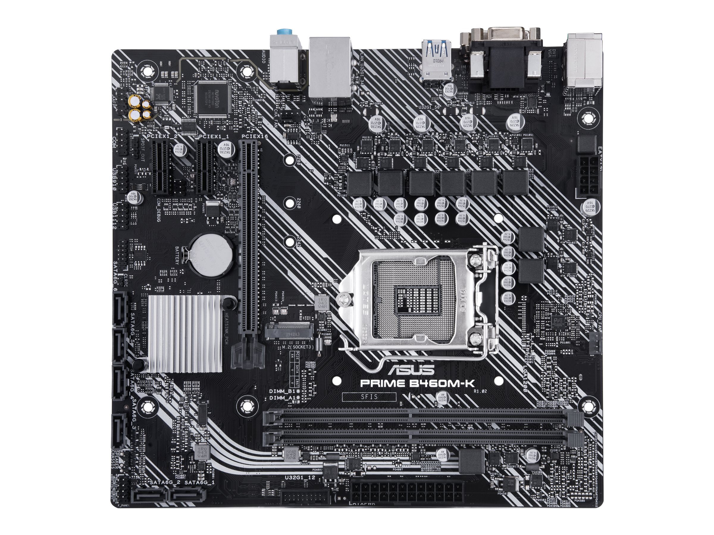 ASUS PRIME B460M-K - Motherboard - micro ATX - LGA1200-Sockel - B460 - USB 3.2 Gen 1 - Gigabit LAN - Onboard-Grafik (CPU