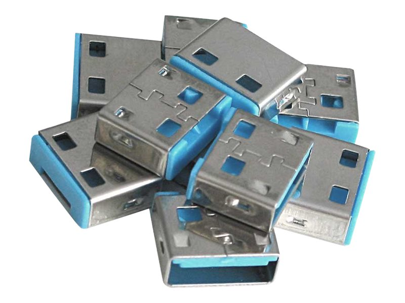 Lindy USB Port Blocker - USB-Portblocker - Blau (Packung mit 10)