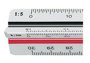 Möbius   Ruppert 716370010 - Maßstabslineal - Kunststoff - Polystyrol - Schwarz - Rot - Weiß - 30 cm - 1 Stück(e)