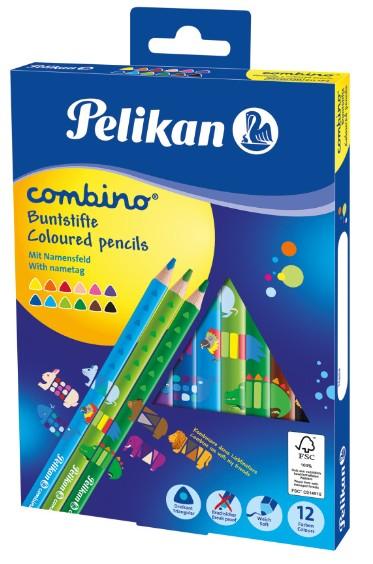 Pelikan 811194 - Combino - Buntstifte - 12 Stück