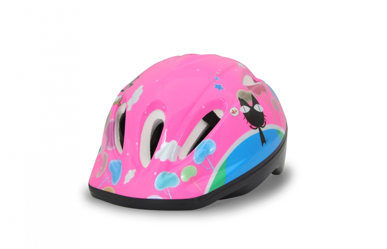 JAMARA 460631 - Halbschale - City-Fahrradhelm - M - Harte Schale - Expandiertes Polystyrol (EPS) - Blau - Pink