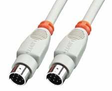 Lindy 8 Pol Mini DIN Kabel Stecker - Kabel