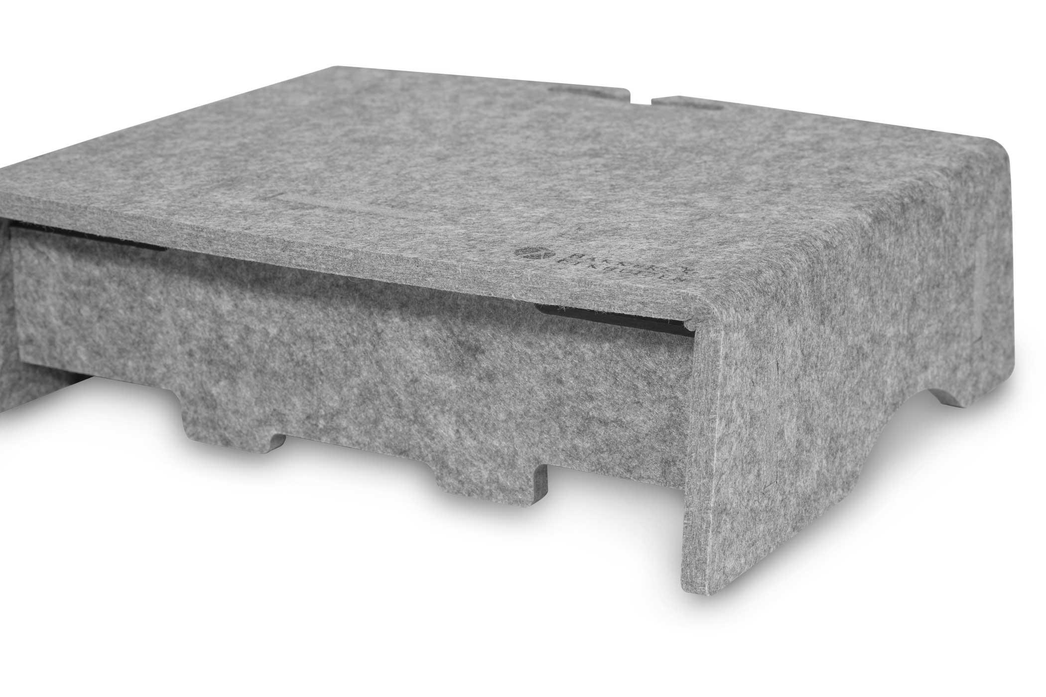 Bakker Q-Riser 90 Circular - Freistehend - 43,2 cm (17 Zoll) - Grau