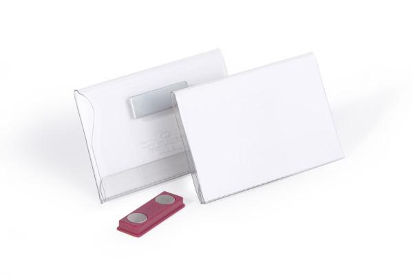 Durable 811719 - Abzeichen - Landschaft - PVC - Transparent - Weiß - Seite - Pack