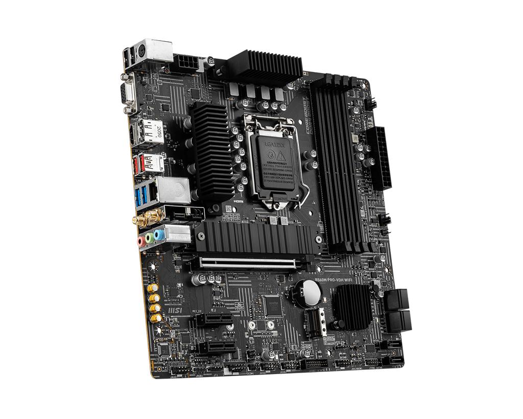 MSI B560M PRO-VDH WIFI - Motherboard - micro ATX - LGA1200-Sockel - B560 - USB 3.2 Gen 1, USB 3.2 Gen 2 - Bluetooth, 2.5 Gigabit LAN, Wi-Fi - Onboard-Grafik (CPU erforderlich)