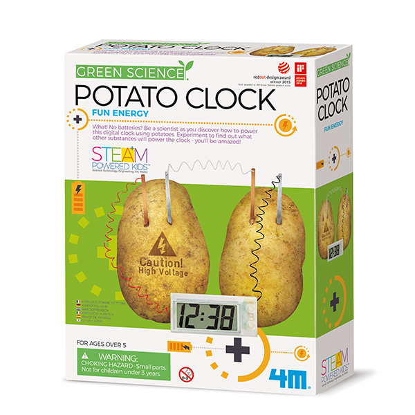 4m Green Science Potato Clock - Experimentier-Set - Junge/Mädchen