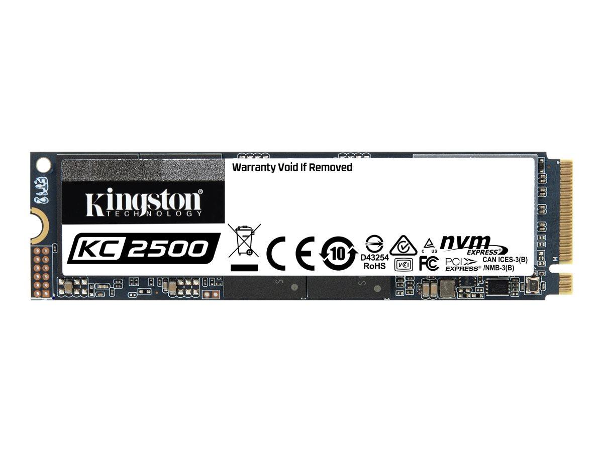 Kingston KC2500 - 500 GB SSD - intern - M.2 2280 - PCI Express 3.0 x4 (NVMe)