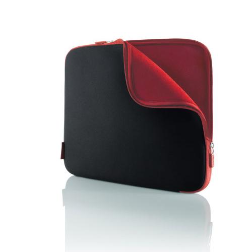 Belkin Netbook Neopren-Schutzhüllen bis 12.1, Kohlenschwarz/Weinrot