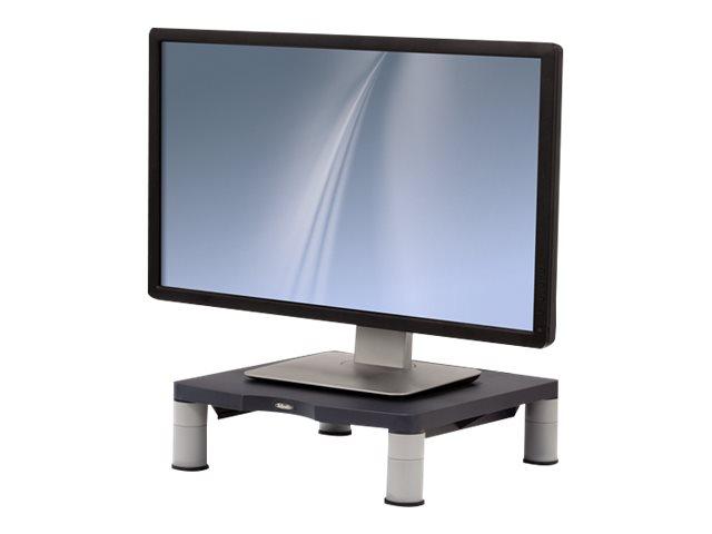 """Fellowes Standard Monitor Riser - Aufstellung für Monitor - Kunststoff - Graphite - Bildschirmgröße: 53.3 cm (21"""")"""