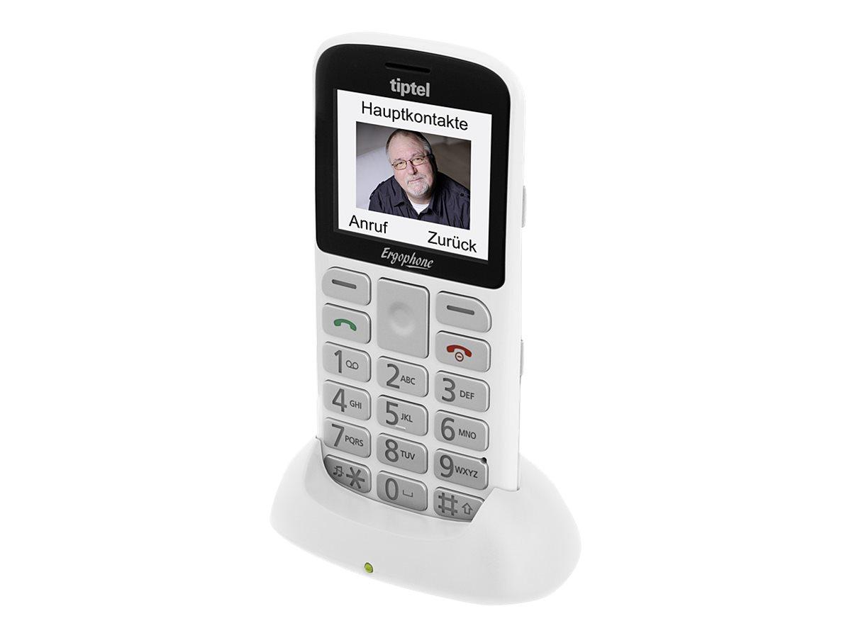 Tiptel Ergophone 6181 2.2Zoll Weiß Einsteigertelefon