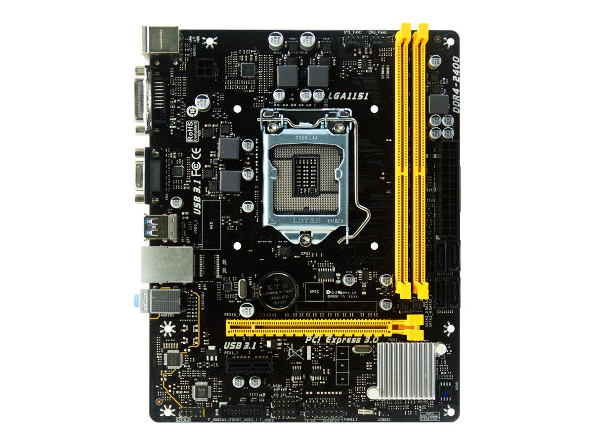 Biostar H110MDE - 7.X - Motherboard - micro ATX - LGA1151 Socket - H110 - USB 3.1 Gen 1 - Gigabit LAN - Onboard-Grafik (