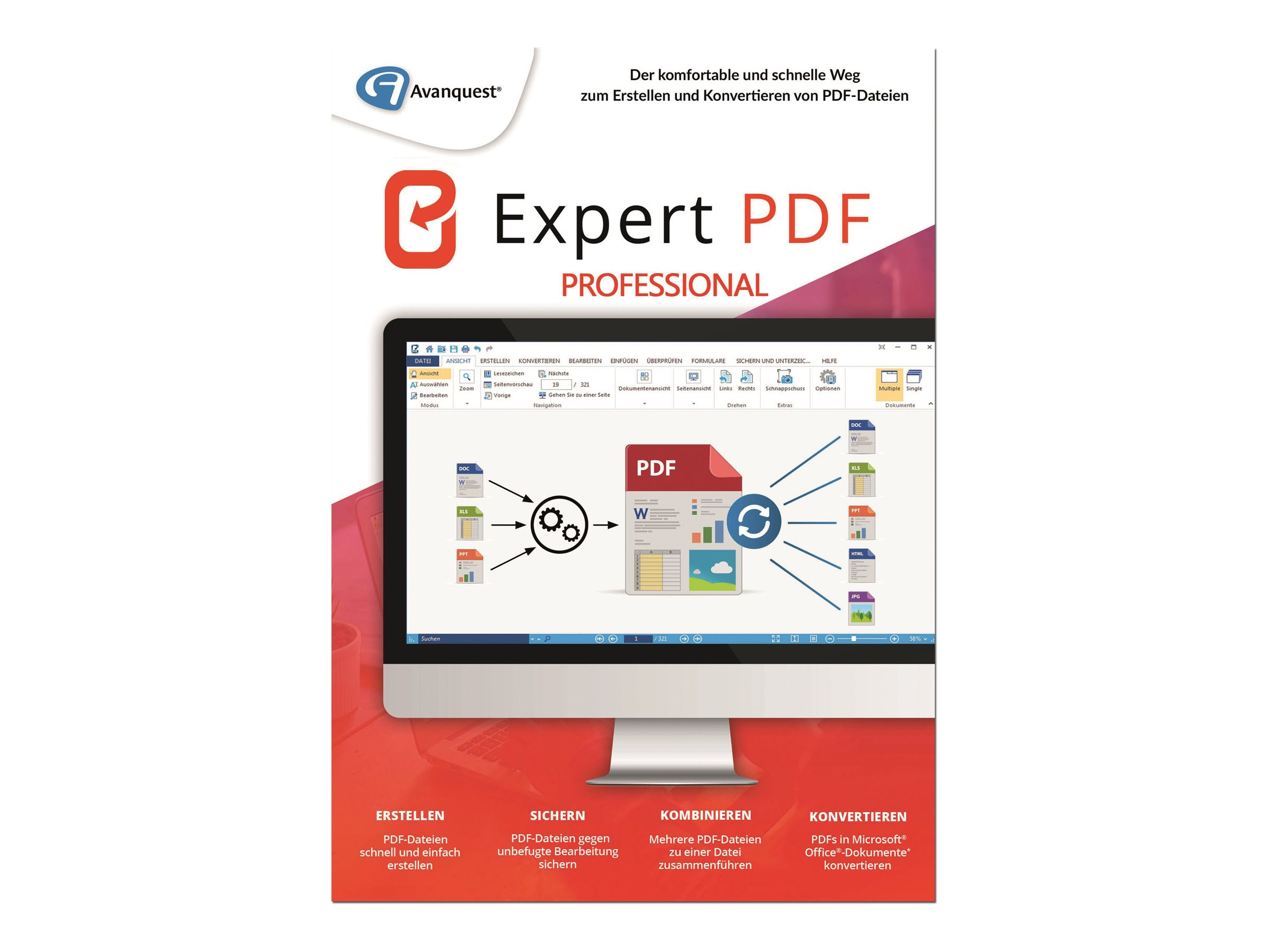 Avanquest Software eXPert PDF Professional - (v. 14) - Lizenz - 1 Benutzer