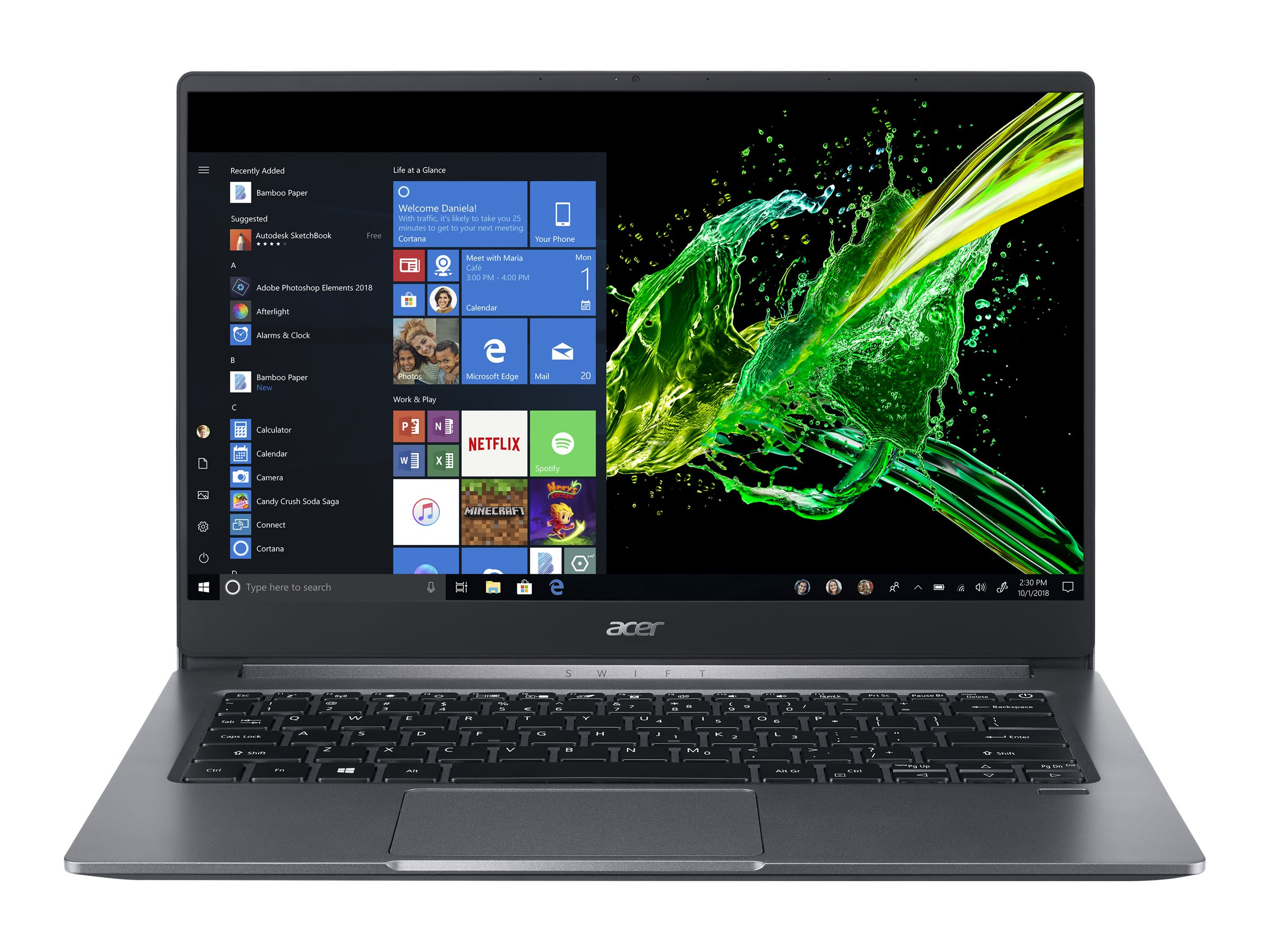 "Acer Swift 3 SF314-57-57T2 - Core i5 1035G1 / 1 GHz - ESHELL - 8 GB RAM - 512 GB SSD - 35.6 cm (14"")"